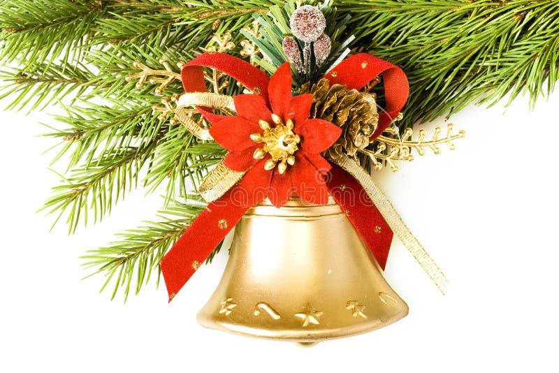Christmas bell stock photo