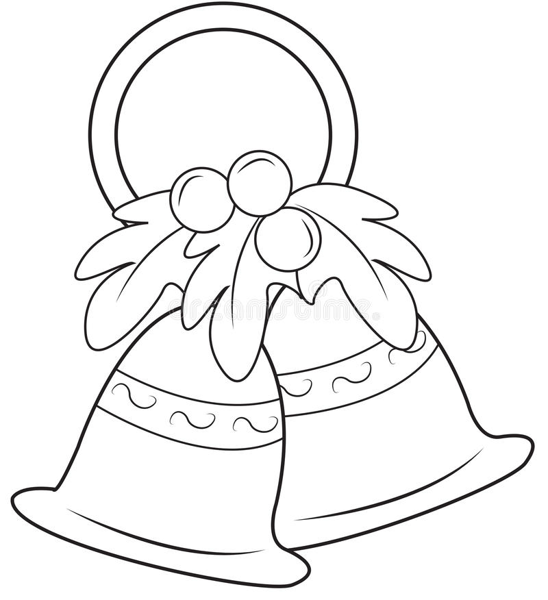 Download Christmas Bells Coloring Page Stock Illustration