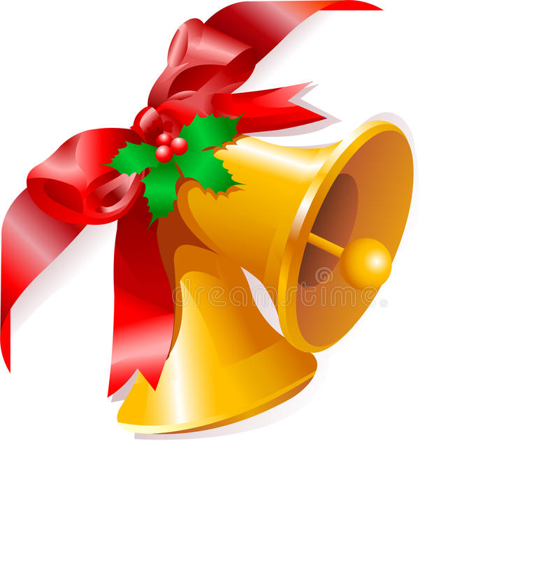 Christmas bells corner vector illustration