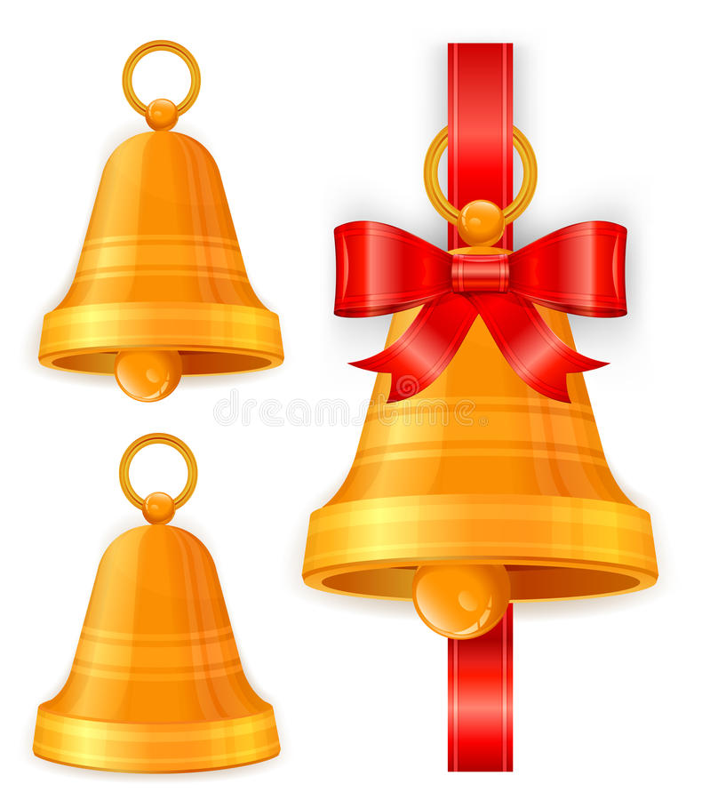Free Christmas Bells On White Stock Image - 21835321