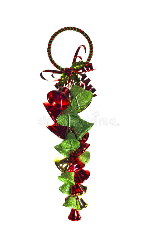Christmas bells ornament stock images