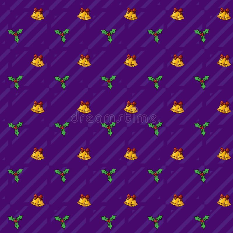 Christmas Bells_Seamless Festive Pattern with jpg png format stock photos