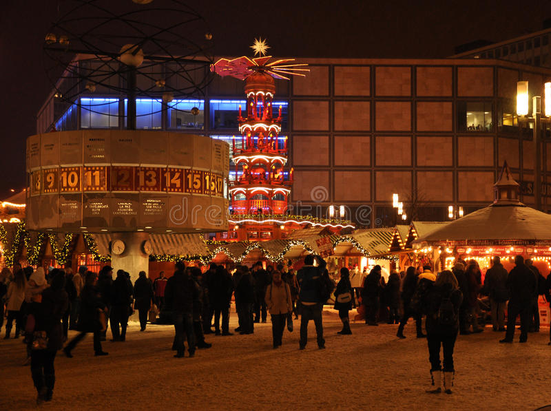 German Christmas Market, Berlin Alexander Platz Editorial Image