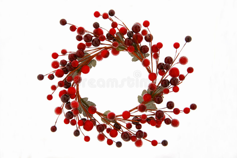 Christmas Berry Wreath stock images