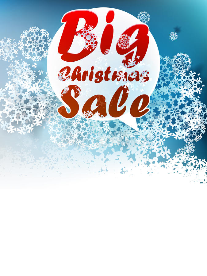 Christmas Big Sale Template. Stock Images