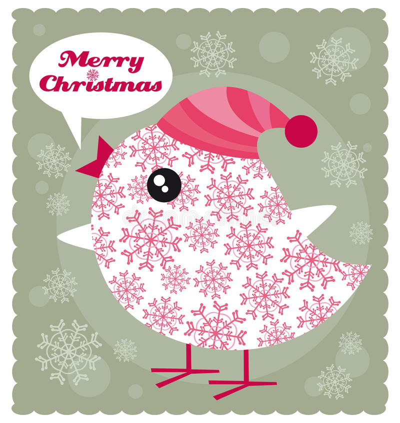 Christmas bird royalty free illustration