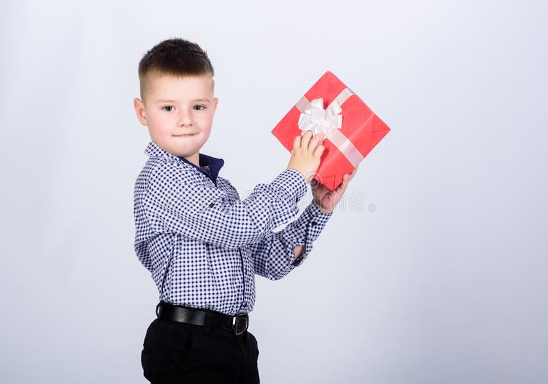 Christmas or birthday gift. Holiday shopping seasonal sale. Wellbeing and positive emotions. Celebrate new year. Valentines day. Birthday gift. Birthday boy stock images