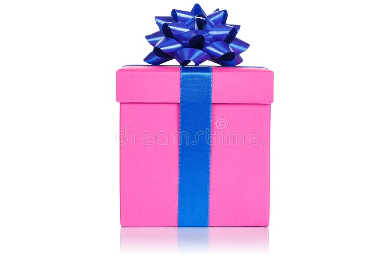 Christmas birthday gift present wedding pink box isolated on white background royalty free stock images