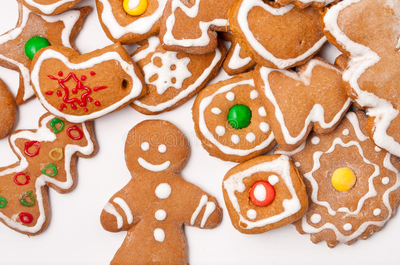 Christmas biscuit cookies royalty free stock images