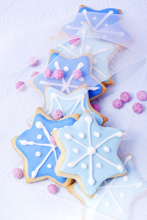 Download Christmas biscuits stock image. Image of star, glaze - 25649941