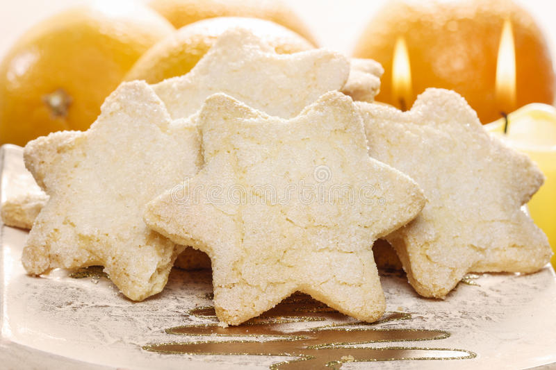 Christmas Biscuits In Star Shape Stock Photo