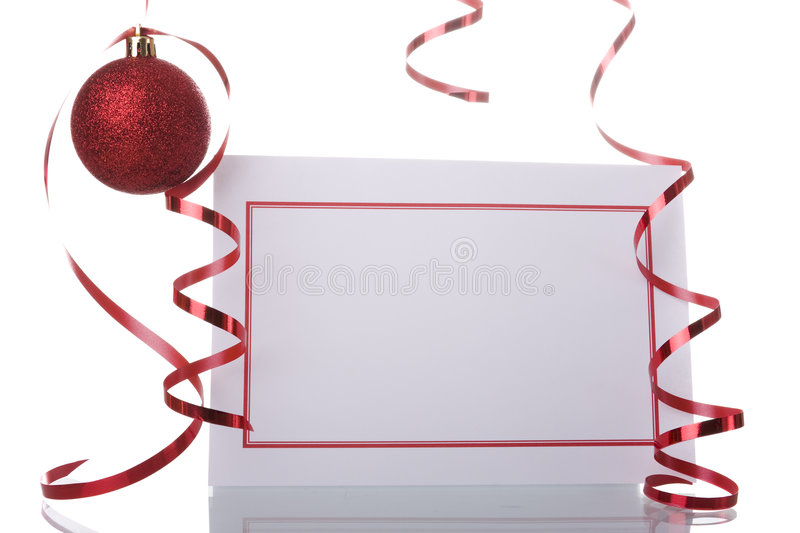 Download Christmas blank card stock photo. Image of occasion, balls - 6767610