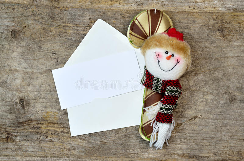 Christmas blank card -note royalty free stock images