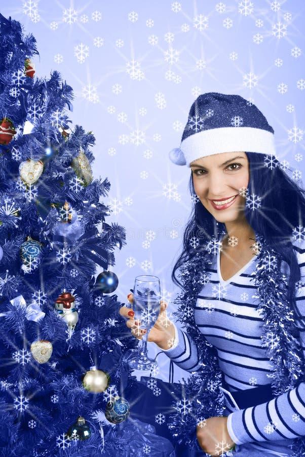 Christmas blue royalty free stock photo