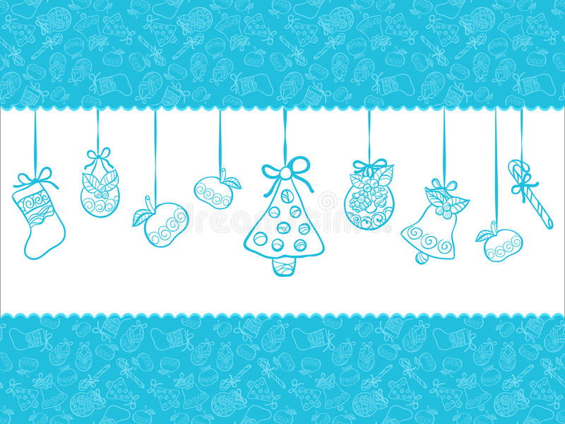 Christmas blue background vector illustration