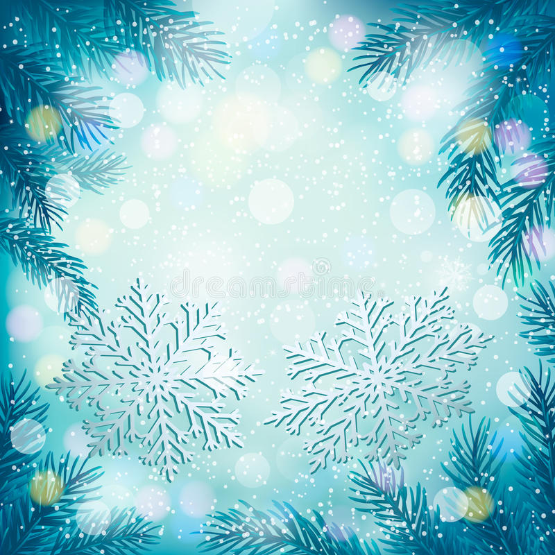 Download Christmas Blue Background With Christmas Tree Stock Vector - Illustration of celebration, icon: 28136281