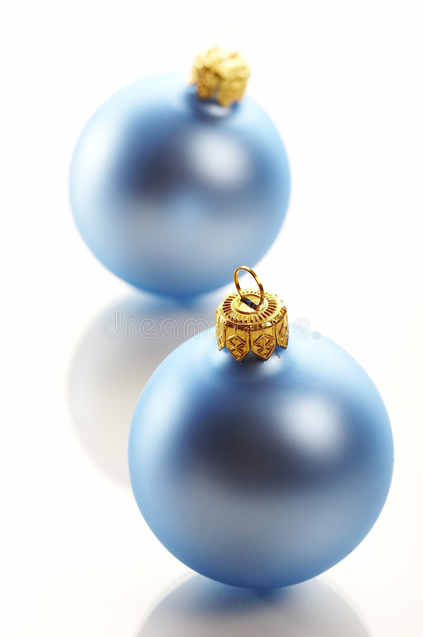 Free Christmas Blue Ball Stock Images - 1372784