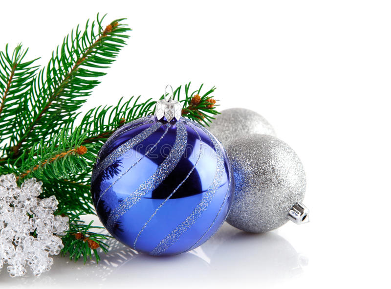 Download Christmas Blue Ball With Branch Firtree Stock Image - Image: 16827209