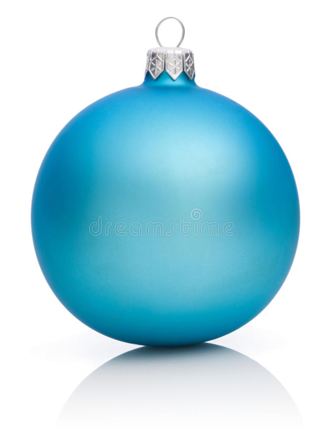 Free Christmas Blue Ball Isolated On White Stock Images - 25428104