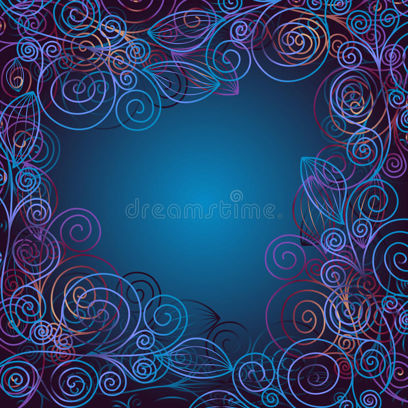 Free Christmas Blue Frame Royalty Free Stock Photography - 22044407