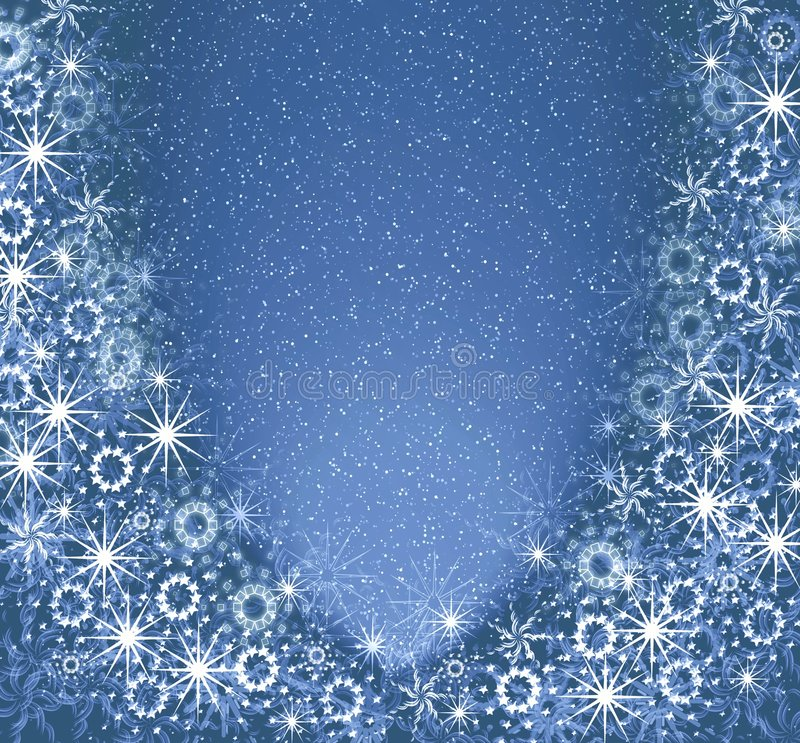 Christmas blue magic frame stock illustration. Illustration of ...