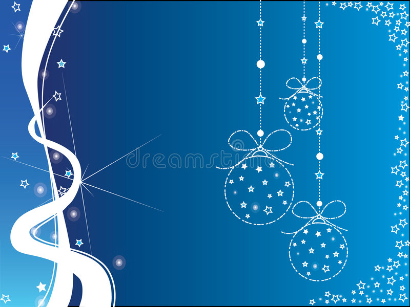 Christmas blue and white background royalty free stock photography