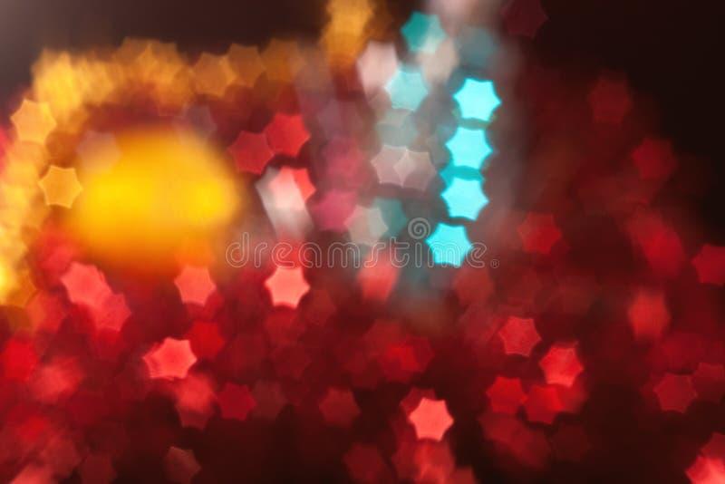 Christmas blurred star-shape lights