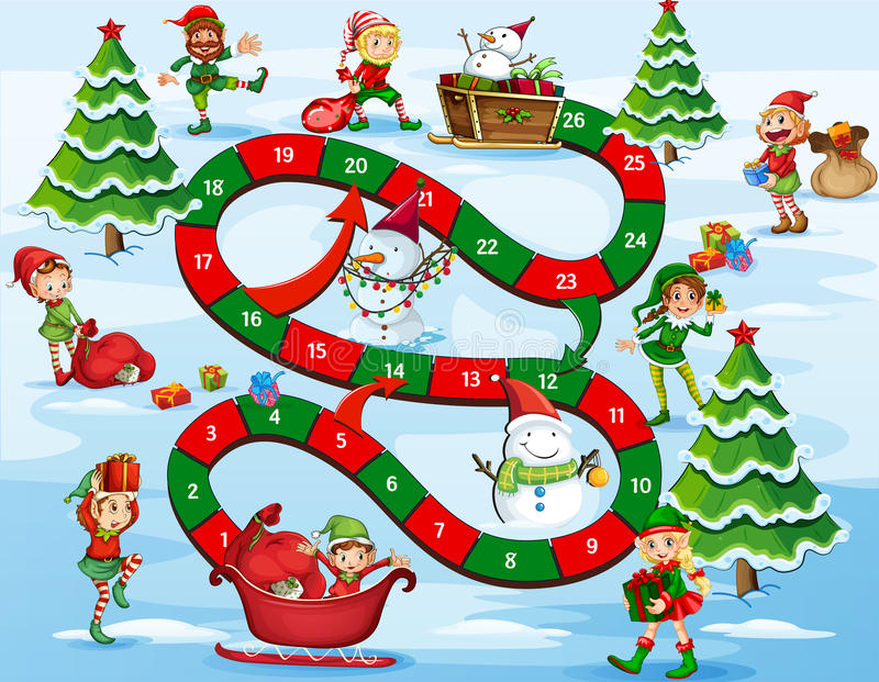 Christmas board game stock illustration