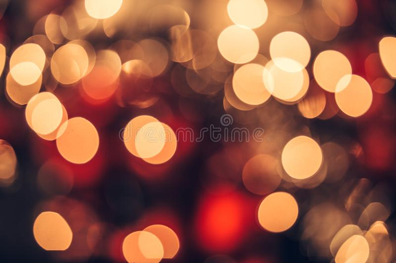 Christmas bokeh light abstract holiday background stock images