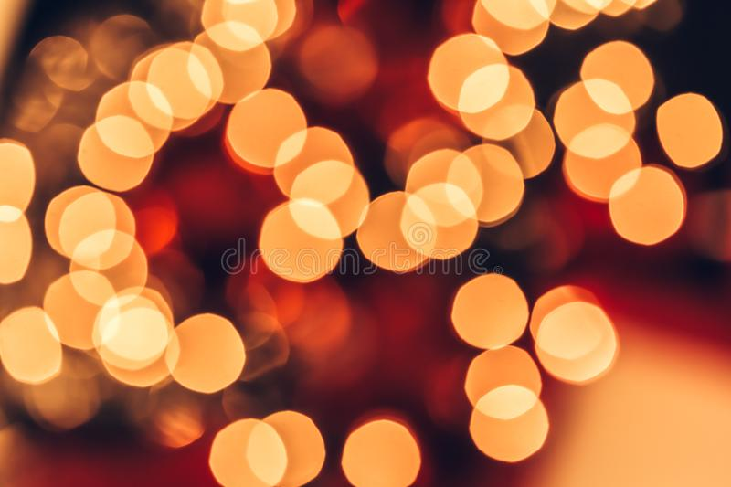 Christmas bokeh light abstract holiday background royalty free stock photography
