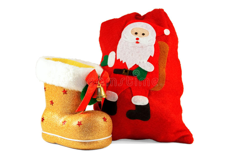 Download Christmas Boots And Bags For Gifts Royalty Free Stock Image - Image: 17156076