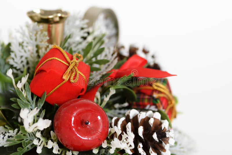 Christmas border. Christmas flower bouquet, can be used for background or border royalty free stock photos