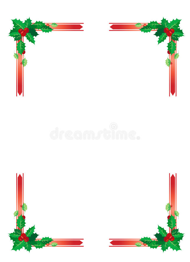 Download Christmas border stock vector. Illustration of cranberries - 20732447