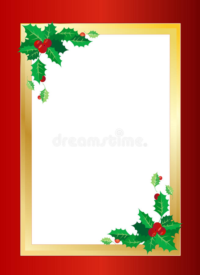Christmas border. Christmas related gold and red border illustration. An additional Vector .Eps file available. (you can use elements separately