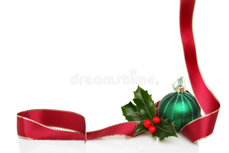 Download Christmas border stock photo. Image of ribbon, leaf, glitter - 21954452