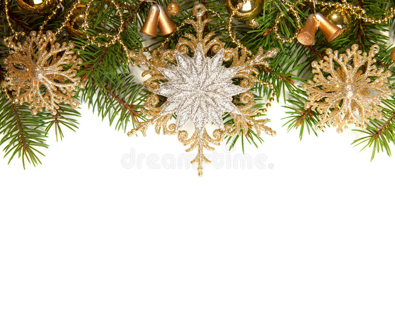 Christmas Border. On white background stock photos
