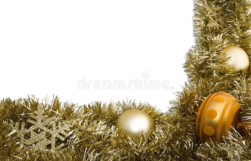 Christmas border. Christmas (or new year) golden border royalty free stock photo