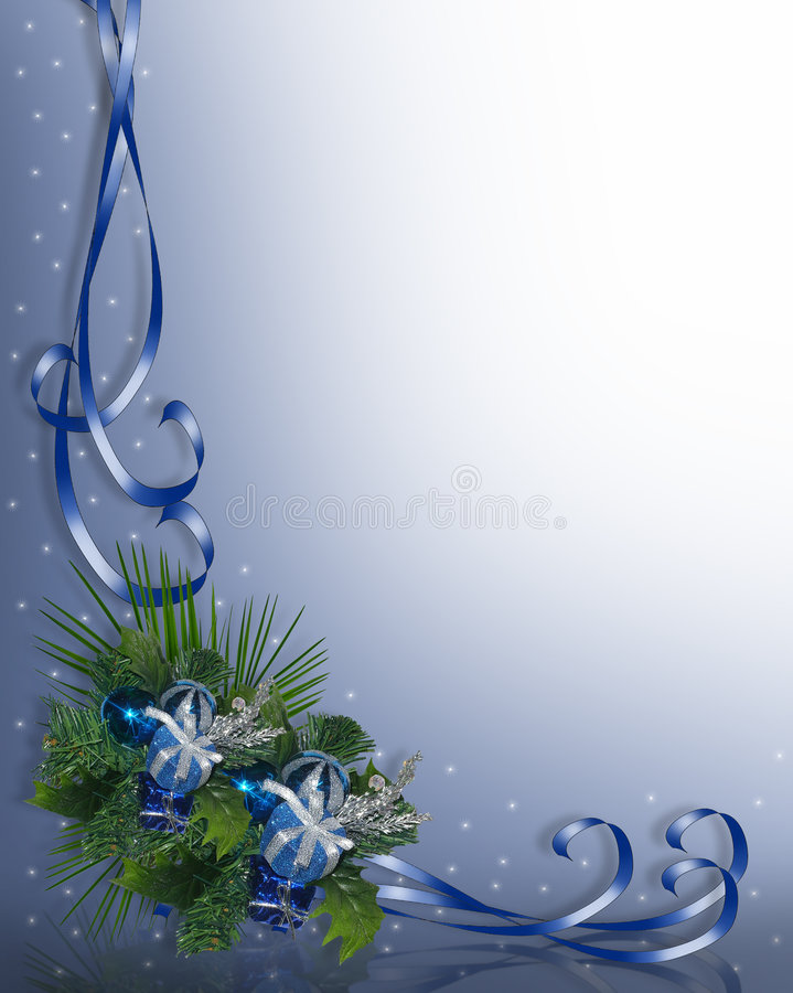 Download Christmas Border Blue stock illustration. Image of card - 5721619