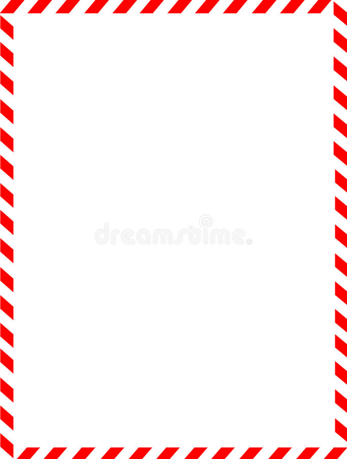 Free Christmas Border / Candy Cane Stock Photography - 6342412