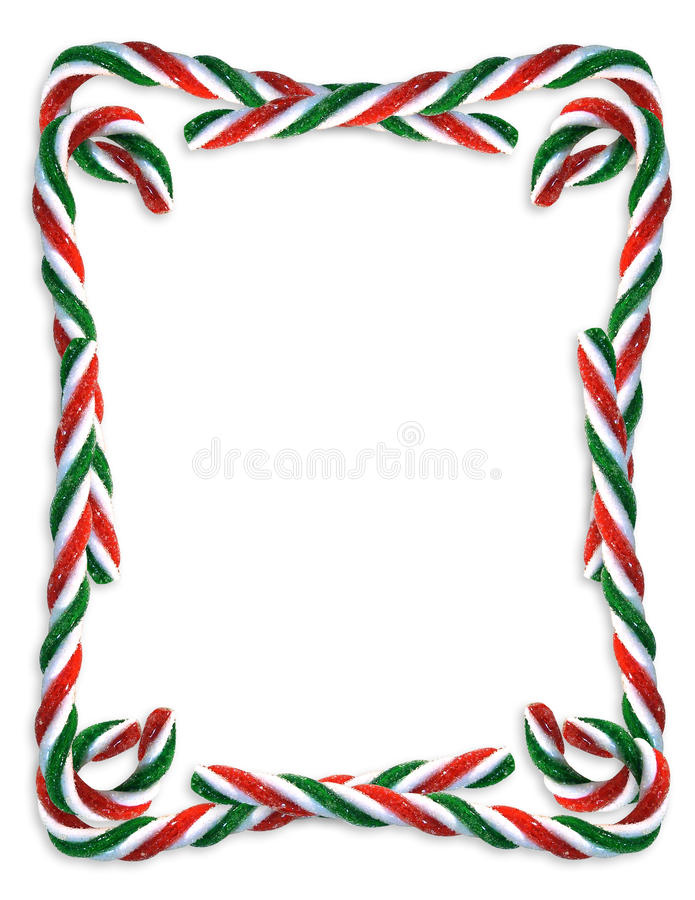 Christmas border Candy Canes stock illustration