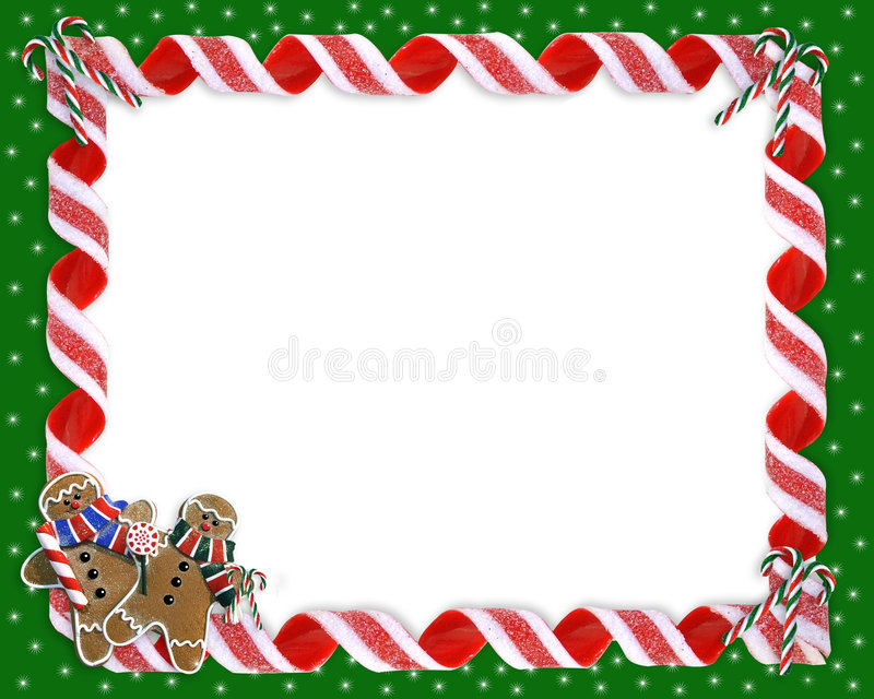Christmas Border Cookies and Candy vector illustration