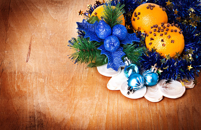 Christmas Border With Decoration Royalty Free Stock Images