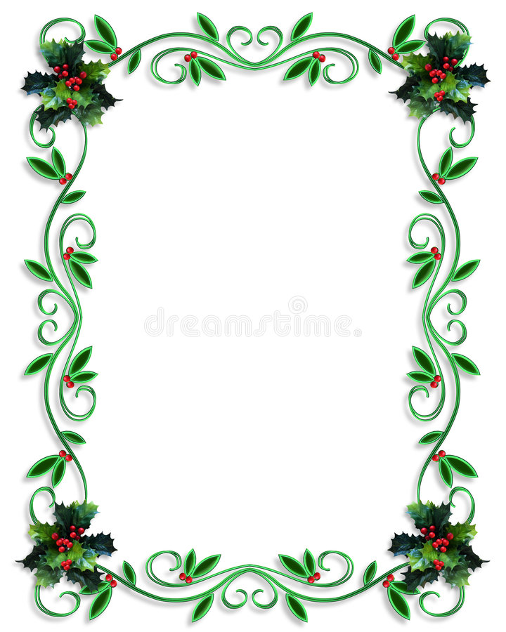 Free Christmas Border Design Royalty Free Stock Photography - 6323217