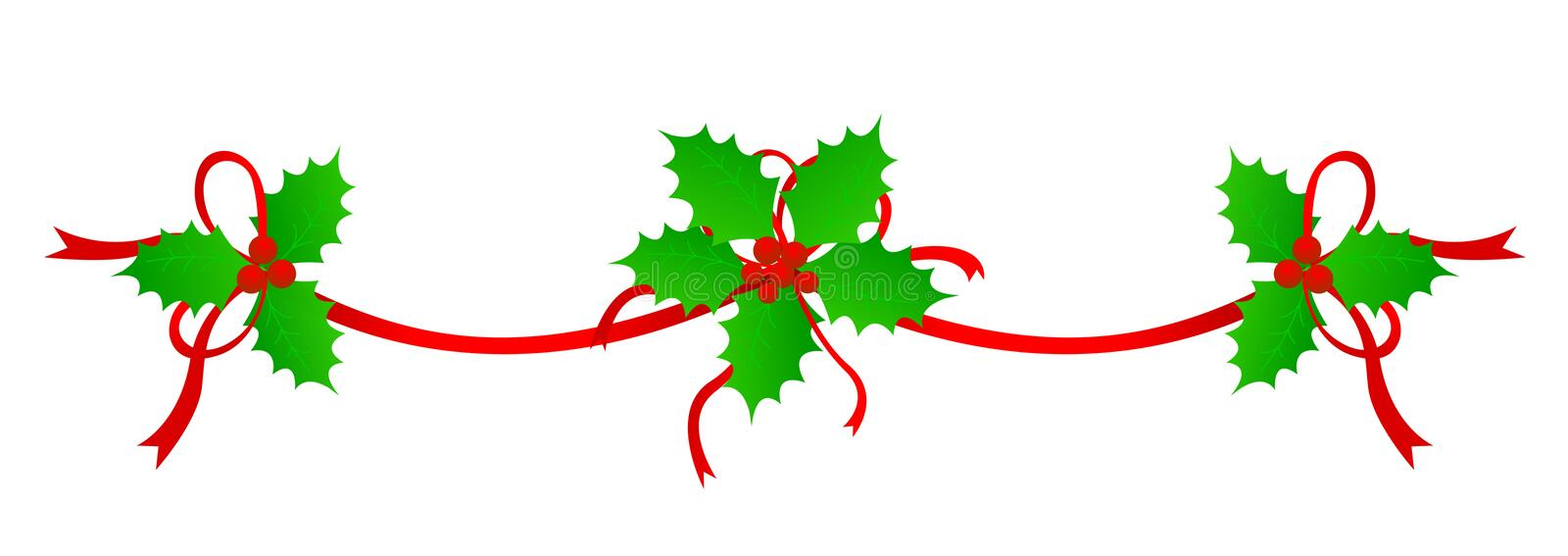Christmas Border / divider stock vector. Illustration of ...