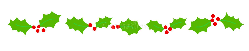 Christmas Border/ divider stock illustration