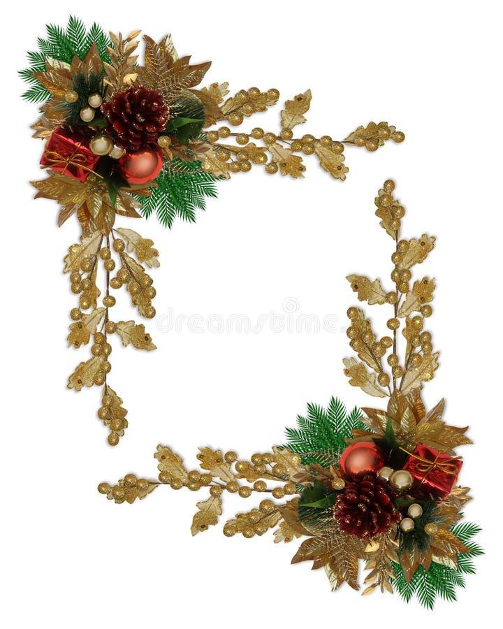 Download Christmas Border Elegant Pinecone Stock Illustration - Image: 12156121