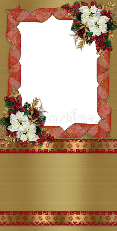 Download Christmas Border Greeting Card Stock Illustration - Illustration of background, decorative: 16709018