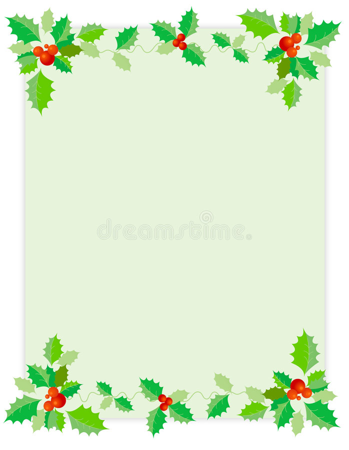 Christmas Border / Holly royalty free illustration