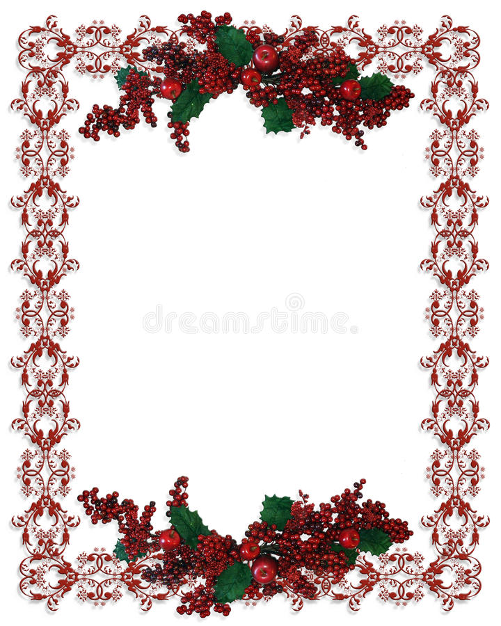 Christmas Border holly berries royalty free illustration