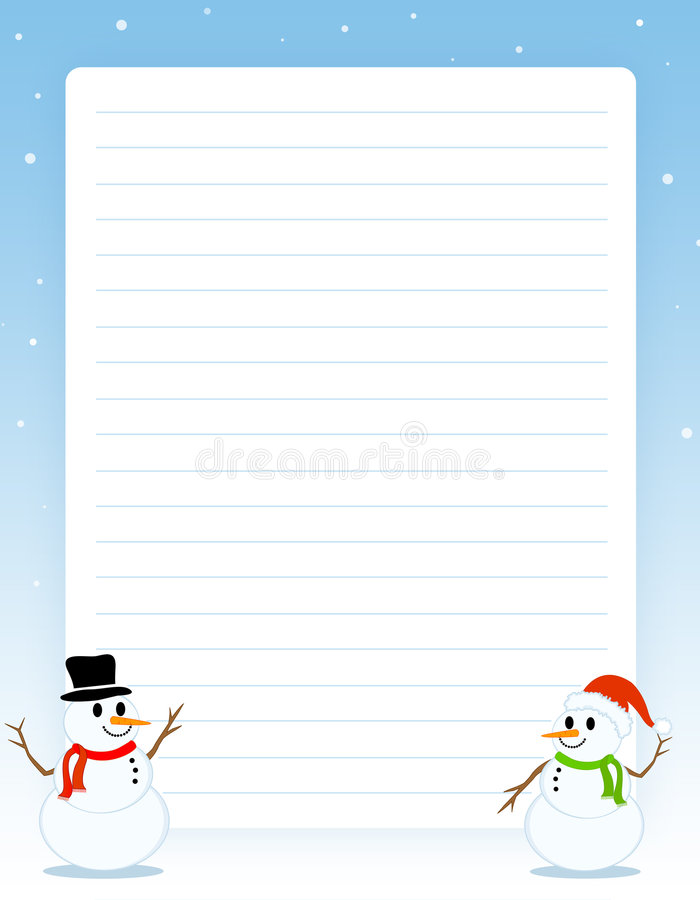 Christmas border / note paper stock illustration